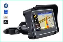 Водонепроницаемый мотоцикл GPS — 4.3 дюймов Win CE 6.0 GPS навигатор — встроенный в 8 ГБ вспышка с карта FM передатчик / Bluetooth