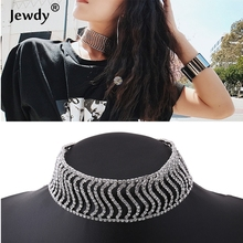 Buy New Rhinestone Choker Crystal Pendant Necklace Fashion Jewelry 2017 Collar Choker Chunky Statement Necklaces Women Gift Mar for $3.14 in AliExpress store