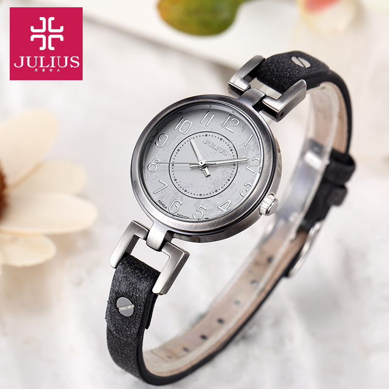 Julius Womens Lady Wrist Watch Quartz Hours Retro Fashion Antique Style Dress Bracelet Band Soft Leather Girl Gift JA-845<br><br>Aliexpress