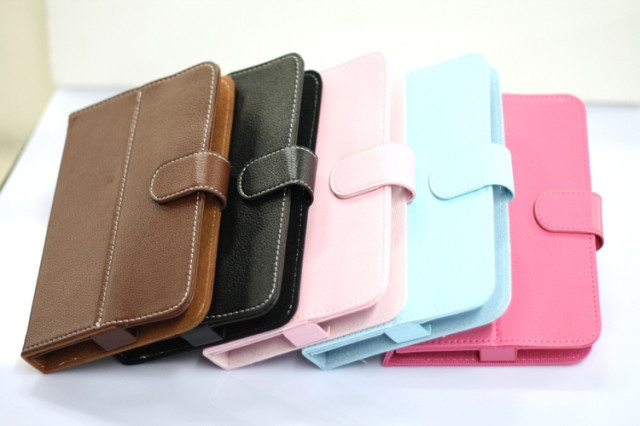 Free Shipping Universal PU Leather Case Cover For 7 inch Android Tablet PC MID tablet leather case cover(China (Mainland))