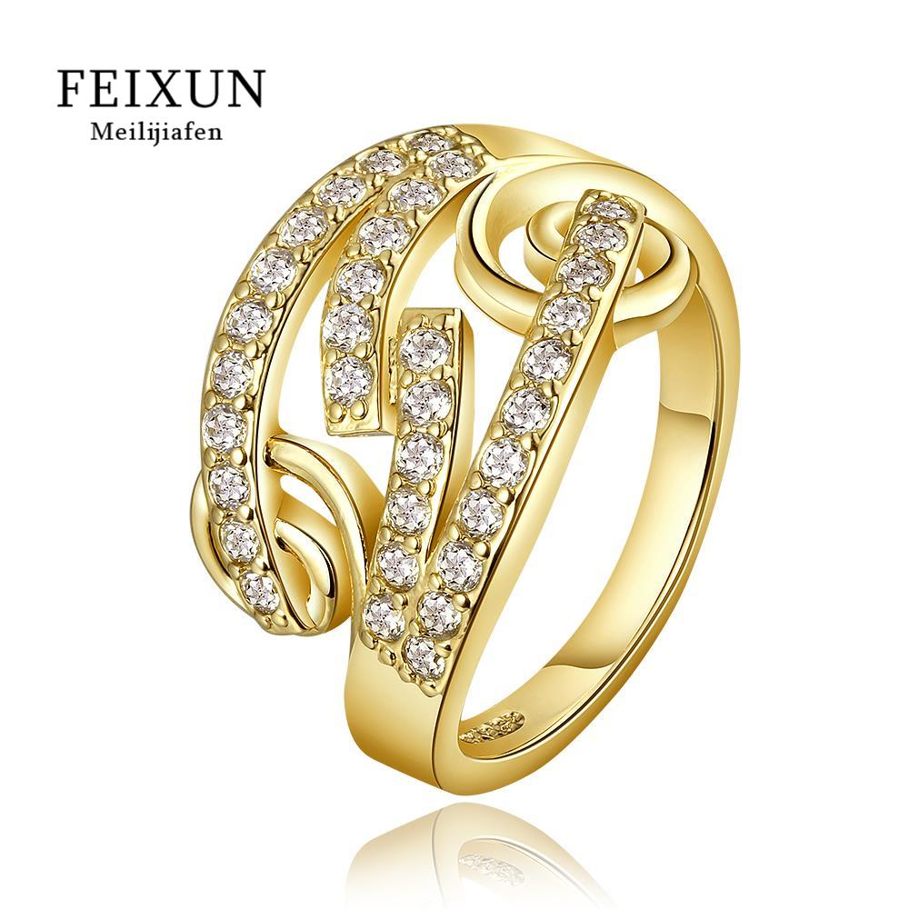 R670-A Wholesale High Quality Nickle Free Antiallergic New Fashion Jewelry 18K Gold PlatedRing(China (Mainland))