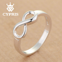 2016 CYPRIS LUXURY Infinity silver Ring Bow Tie Women Party Wholesale Price gift lover's infinite Valentine's Day 925 jewelry(China (Mainland))