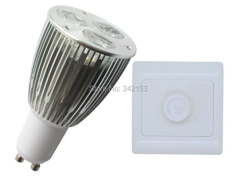 Free Shipping High Power GU10 3X1W 3W Dimmable LED Light Lamp Bulb + SCR Dimmer Controller 2PCS/LOT(China (Mainland))