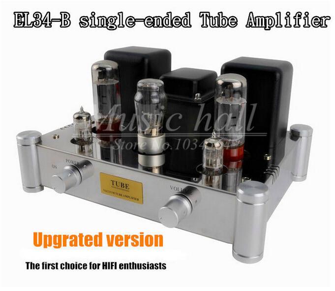 Music Hall Boyuu A10 EL34-B Single-ended Tube Amplifier 5Z4P Rectifier Hifi Stereo Audio 12W*2 Manual welding scaffolding(China (Mainland))