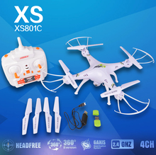 2015 New Version XS801C 2.4G 6 Axis GYRO RC Quadcopter RTF RC Helicopter RC drone with HD Camera VS X5SC