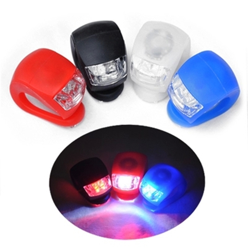 HotLED Bike Cycling Light Front Tail Flash Lamp Bulb Waterproof Safety Handlebar Rear Wheel Bicycle Warning Lights 6 color - Niner Store store