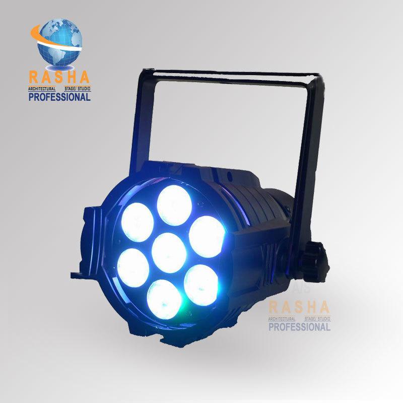 Фотография Freeshipping Rasha High Brightness 7pcs*10W RGBW 4IN1 Aluminium Mini LED Par Light,LED Mega Par38,Stage Light,ADJ LED Par Light