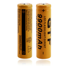 2PCS TR 18650 3.7V 9900mAh Rechargeable Li-ion Battery for LED Flashlight Wholesale(China (Mainland))
