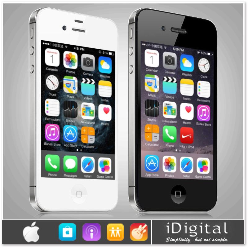Original Apple iPhone 4S Unlocked Mobile Phones IOS 8 16GB/32GB Dual Core WIFI 3G WCDMA Refurbished Smartphone 1 year warranty(China (Mainland))