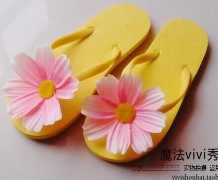 New Summer Beach Flip Flops Slippers Flowers Sandals Female Sandals Girls Flip Flops FREE SHIPPING 01