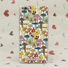 624CA Cartoon mushroom pattern Hard Transparent Case Redmi 2 2A 3s Pro Note 3 Meizu M2 Mini M3 - TTcase Store store