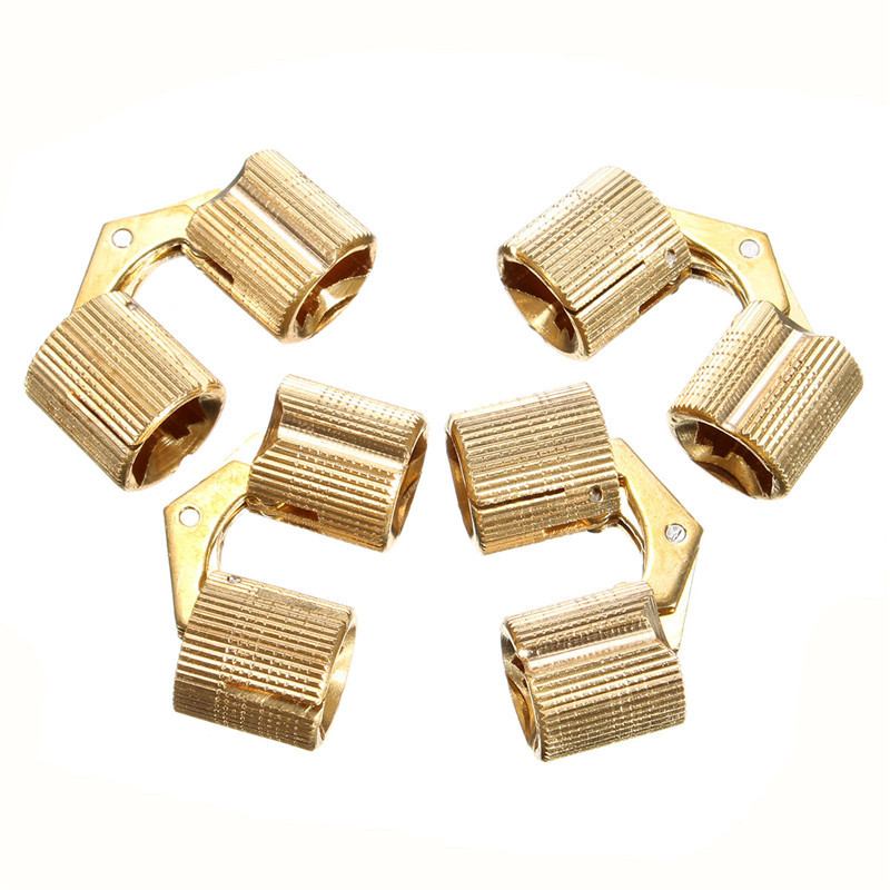 High Quality Durable 4pcs Brass Barrel Hinge Cylindrical Hidden Cabinet Hinges Concealed Invisible Mortise Mount Hinge Hot Sale(China (Mainland))