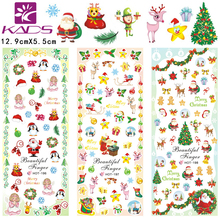 Fashion christmas Designs Hot Water Transfer Nail Stickers Foils Polish Nail Beauty Decals Decoration(3 DESIGNS IN 1)#HOT196-198