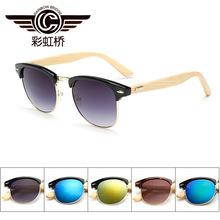 2016 mens women newest bamboo wood font b sunglasses b font polagized UV400 sun glasses retro