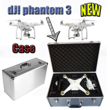 5 Pcs/Lot DJI Phantom 3 Case Professional Aluminum EVA Hard with Key Lock fpv Drone Box Quadcopter toys