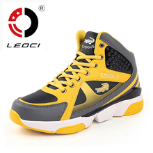 LEOCI Plus Size 37-47 Men Women Basketball Shoes Strong Grip Outdoor High Top Basketball Sneakers Zapatillas De Basquet