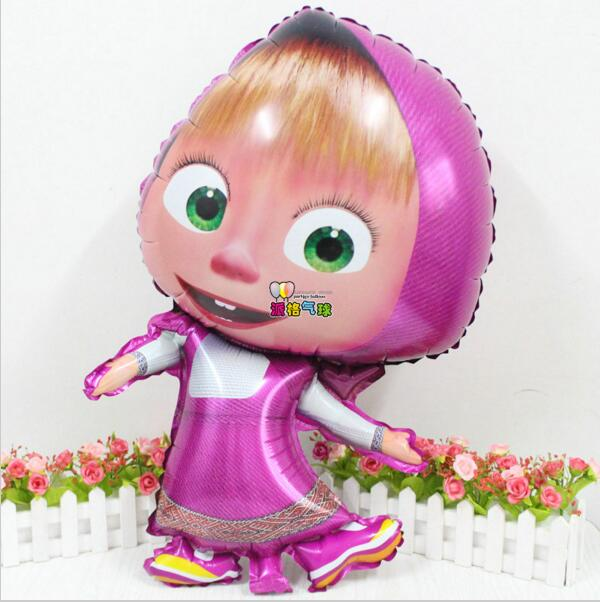 Гаджет  H1108  New Masha bear balloon party  79*48cm air 50pcs/lot globos party baloes cartoon helium Foil Balloons party Supplies None Игрушки и Хобби