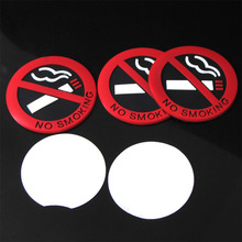 5pcs car styling car sticker no smoking stickers Fit for all car For example mazda volkswagen