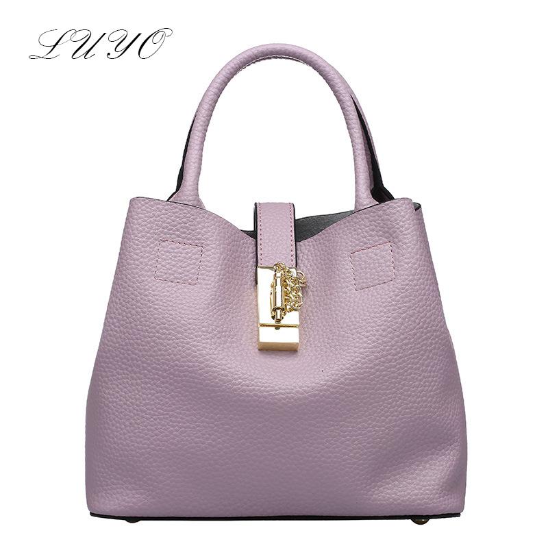 Brand 2016 Summer Pink Genuine Leather Handbags High Quality Bucket Women Small Tote Borsa Femininas Designer Top-handle Bags(China (Mainland))