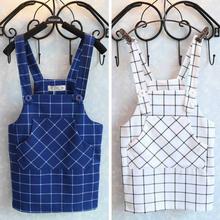 Hu sunshine wholesale new 2016 Girls plaid pocket straps skirts(China (Mainland))