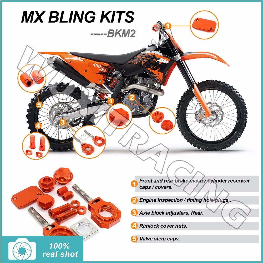 Orange Billet CNC New MX Motocross Bike Bling Kits for KTM SX 85 13 2013 Aluminium Alloy(China (Mainland))