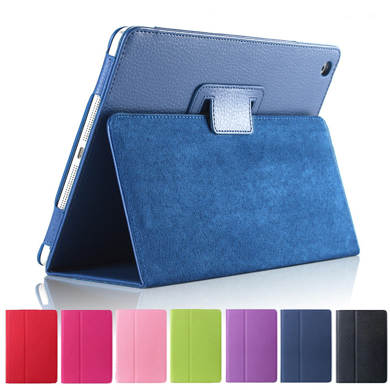 Matte Litchi Surface Flip PU Leather Case for apple Ipad Mini 1 2 3 with Retina Smart Stand Magnetic Sleep Wake UP Pouch Cover(China (Mainland))