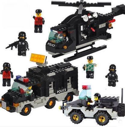 Sluban M38-B2100 Police Riot Building Blocks Education Toys Compatible with Legominifigure(China (Mainland))