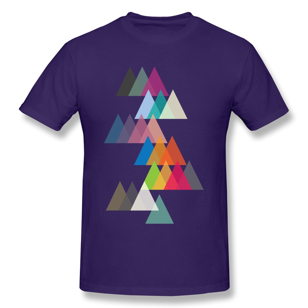 Personality Newest Mountains Men T Shirt Organic Cotton