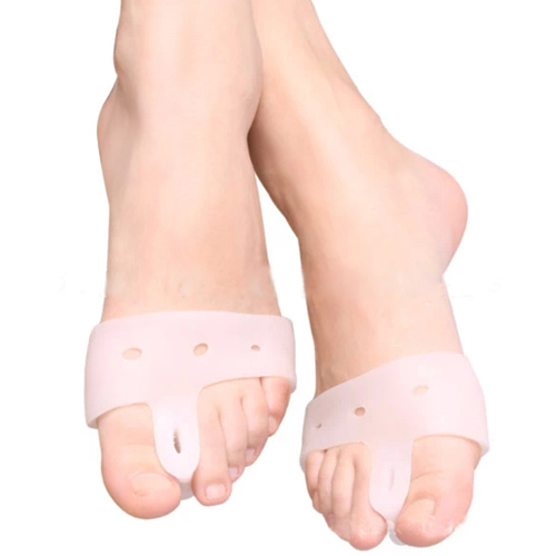2pcs White Silicone Toe hallux valgus Separators Straighteners Bunion Relief  Health Care Chic Design 5GP7
