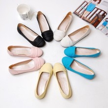 2013 spring autumn Casual Flat bottom shoes Simple Leisure flat heel Women's Peas shoes Scoop shoes big size 32-43 P795(China (Mainland))