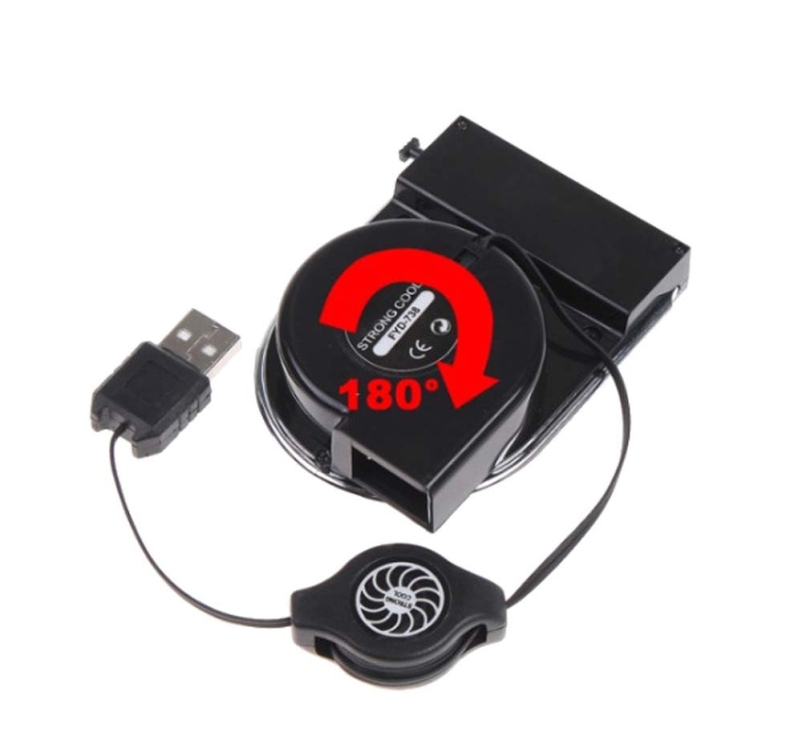 Hot selling 2015 New Mini USB Cooler Air Extracting Cooling Pad Fan For Laptop
