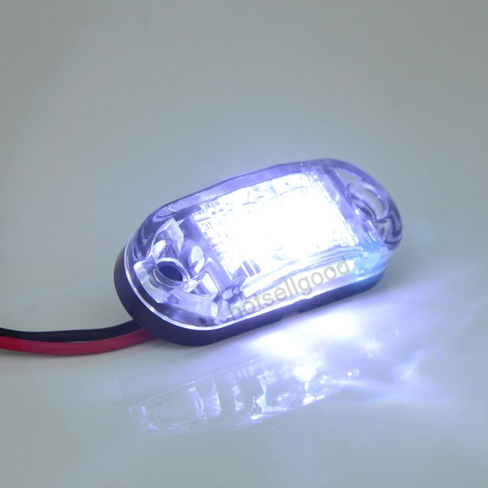 4x 12/24v LED Front Side Marker Light White for Cars Trucks Trailers Indicator(China (Mainland))