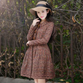 Original 2016 New Fashion Elegant Plaid Vintage Female Overcoat Medium Long Wool Coat Full Sleeve Woolen