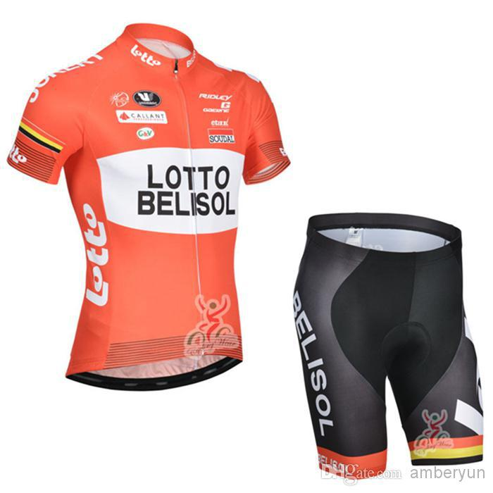 2014 Brand New Tour de France red Team Lotto cycling clothing Cycling Jersey Short Sleeve or bib Shorts Cycling(China (Mainland))