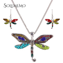 Hot Jewelry Sets Wedding Engagement Jewelry Fashionable Women Pendanmt Necklace Butterfly Jewelry Bridal Necklace Gifts N4080(China (Mainland))