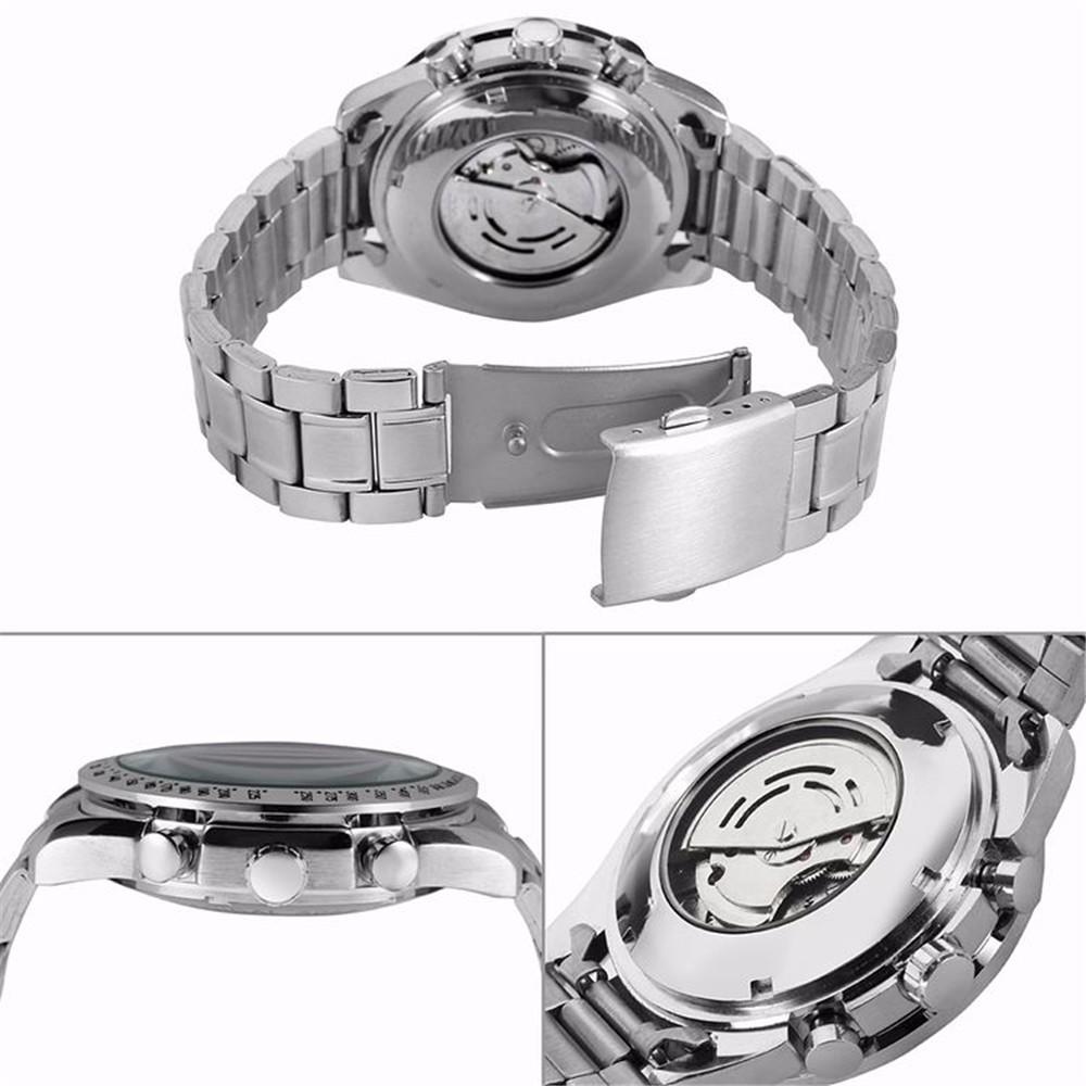 JARGAR Автоматические Механические Часы Полный Нержавеющей Стали Скелет Три Набора Дизайн Mens Роскошный Бизнес Часы Relojes Hombre