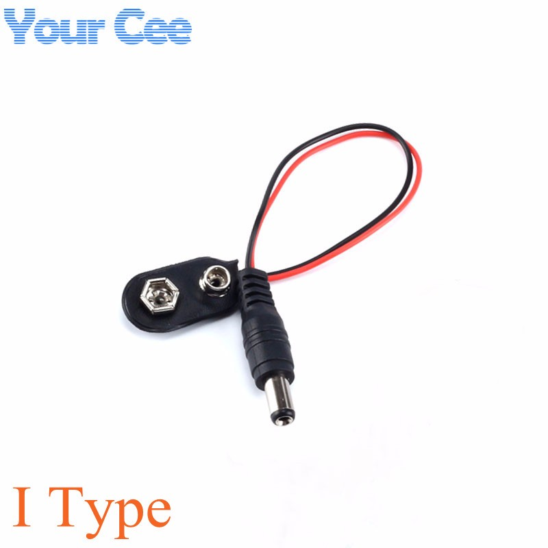9V DC Battery Power Cable Plug Clip Barrel Jack Connector for Arduino DIY I type (3)
