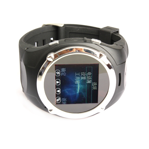 Wearable Electronic Dervice Wrist Watch Mobile Phone Black Watch Mobile Phone <br><br>Aliexpress