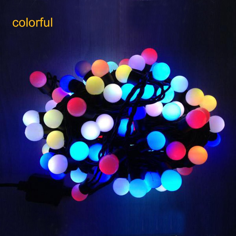 5M 50pcs LED Mini ball LED globe string lights fairy lights string for holiday party lighting AC ...
