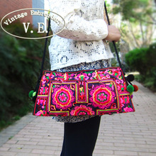 Buy Vintage Embroidery Women Bag National Handmade Double Faced Embroidered Shoulder Messenger Bag Small Travel Day Clutch Handbag for $6.04 in AliExpress store