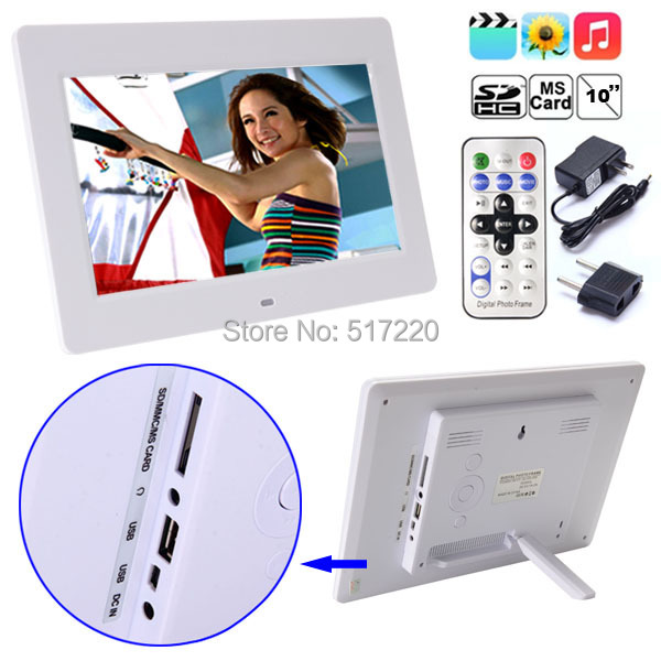 Digital Photo Frame Multi-Media High Definition 1024*768 10 inch LCD Black White Domestic Delivery Stock US - Funny Little Dream store