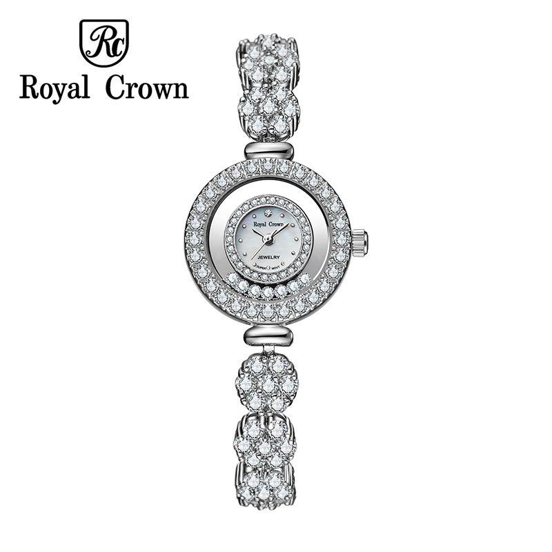 Royal Crown 5308 Italy Brand MIYOTA Switzerland Diamond girls fashion ladies Bracelet Watch watches quartz relogio feminino