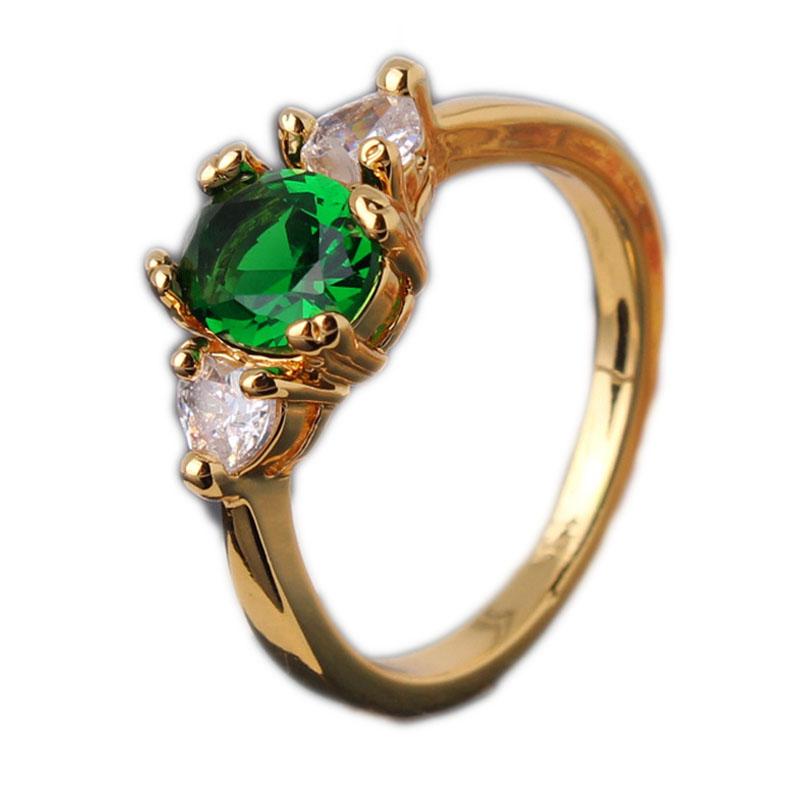 2016 new fashion jewelry green white zircon