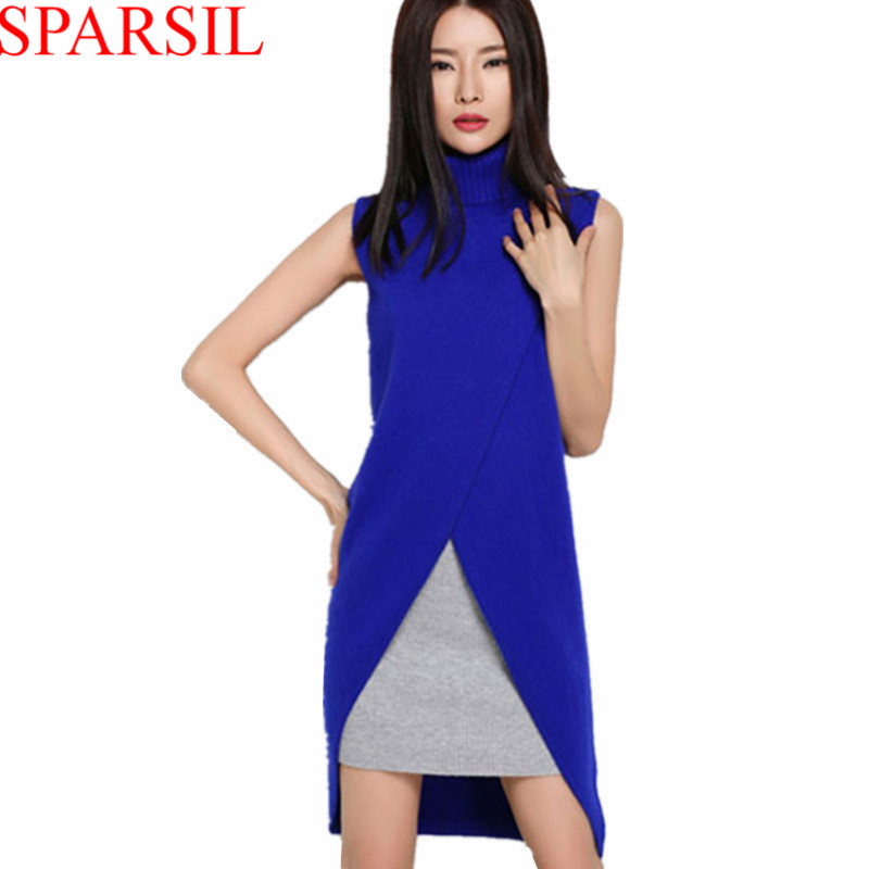 2015 New Women Cashmere Sweater Autumn Fashion Lady Sleeveless Pullover Spring Female Turtleneck Knitwear Jumper Brand S-XXLОдежда и ак�е��уары<br><br><br>Aliexpress