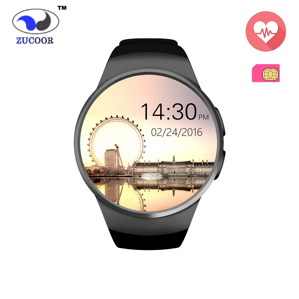 Men Women's Smart Watch Phone KW18 Full Round Screen Heart Rate Monitor Smartwatch Bluetooth Smart WristWatch with GSM SIM Clock(China (Mainland))