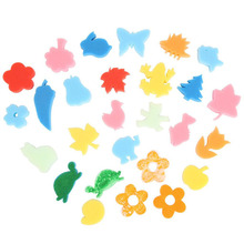 EDFY 24pcs Different Shapes Children Crafting Painting Sponge Stamp(China (Mainland))