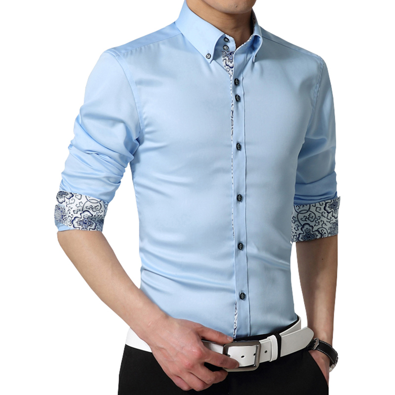 2016 high quality mercerized cotton men 39 s shirt fashion for Black shirt business casual