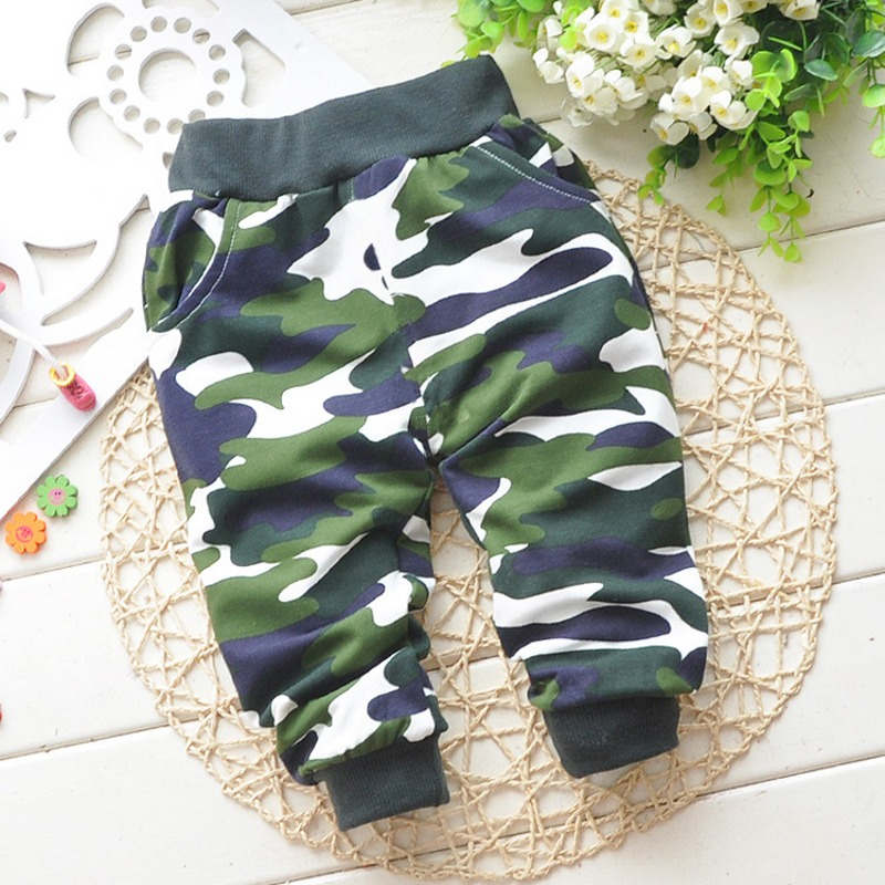 spring autumn Lovely cotton children Camouflage pants newborn Baby boy pants baby girl pants baby clothing