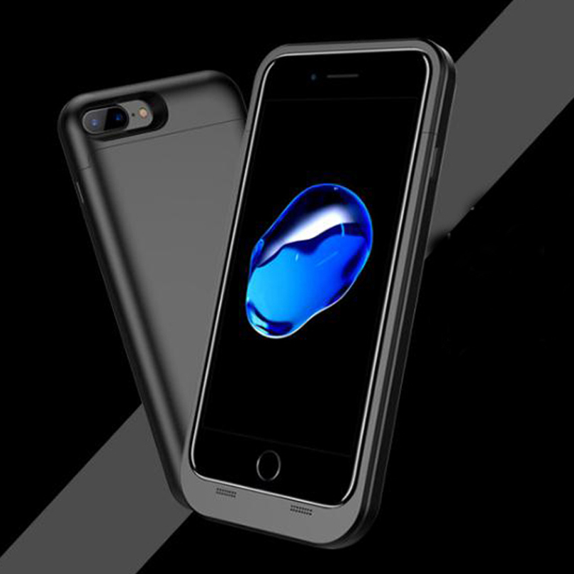 New 5000mAh Rechargeable Backup Power Cover Power Bank Case for iPhone 7 Plus External Battery Cover Mobile Phone Charger Case(China (Mainland))