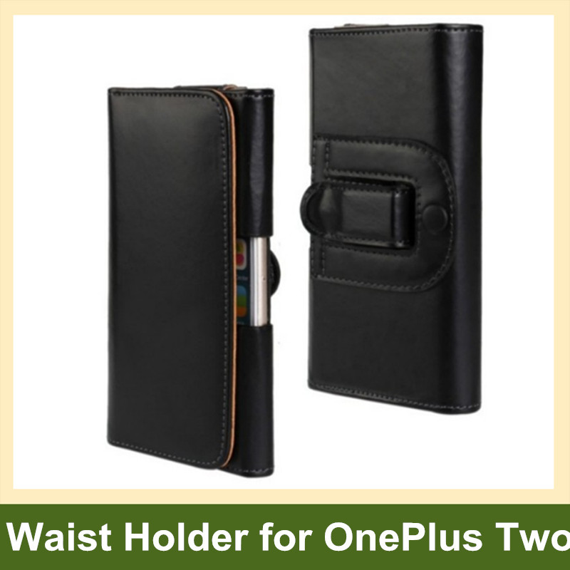 Newest PU Leather Waist Holder Flip Cover Pouch Case for OnePlus Two 10pcs/lot Free Shipping